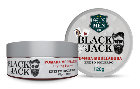 FELPS MEN BLACK JACK POMADA MOLHADA