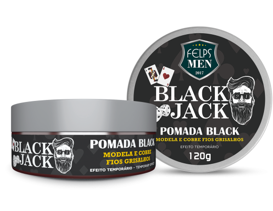 FELPS MEN BLACK JACK POMADA BLACK