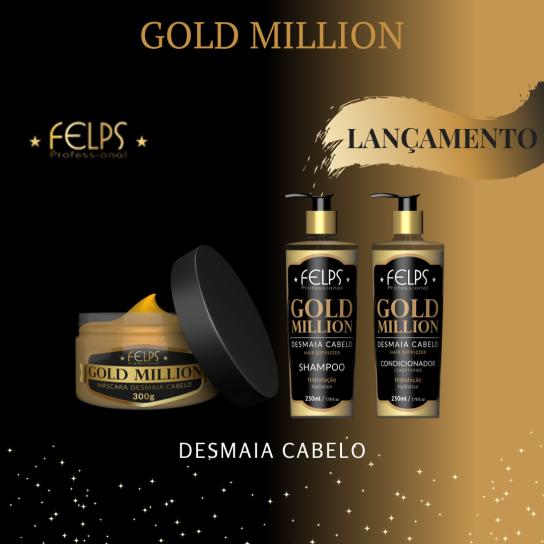 Lançamento: Shampoo E Condicionador GOLD MILLION Desmaia Cabelo